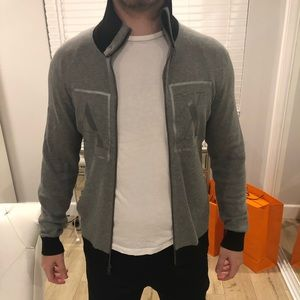 Armani Exchange grey black jacket/sweater like new